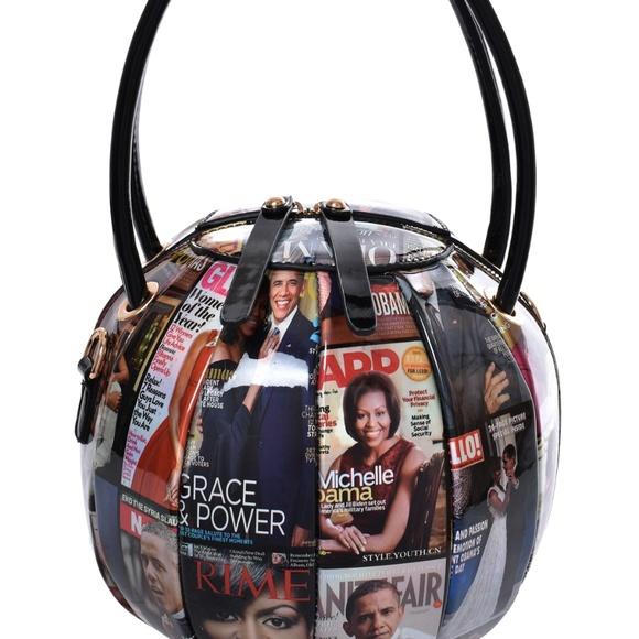 My Bag Lady Online Handbags - Michelle Obama Magazine Ball Shaped Hand Bag